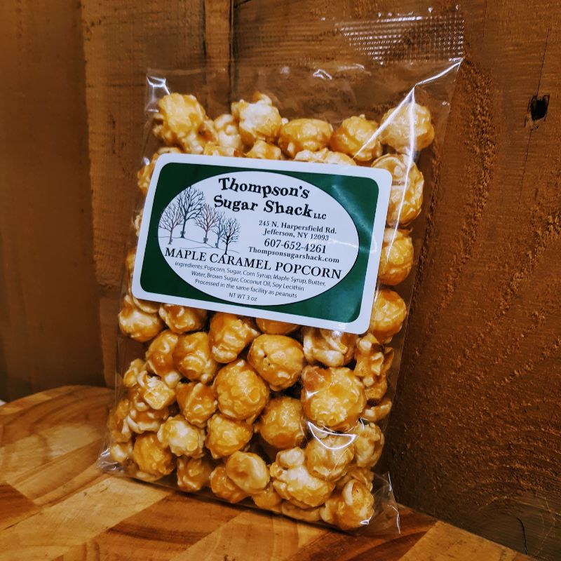Thompsons Sugar Shack Maple Popcorn 3 oz bag