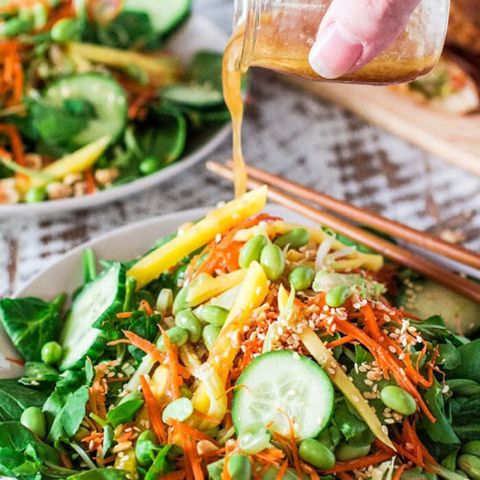 asian salad with ginger